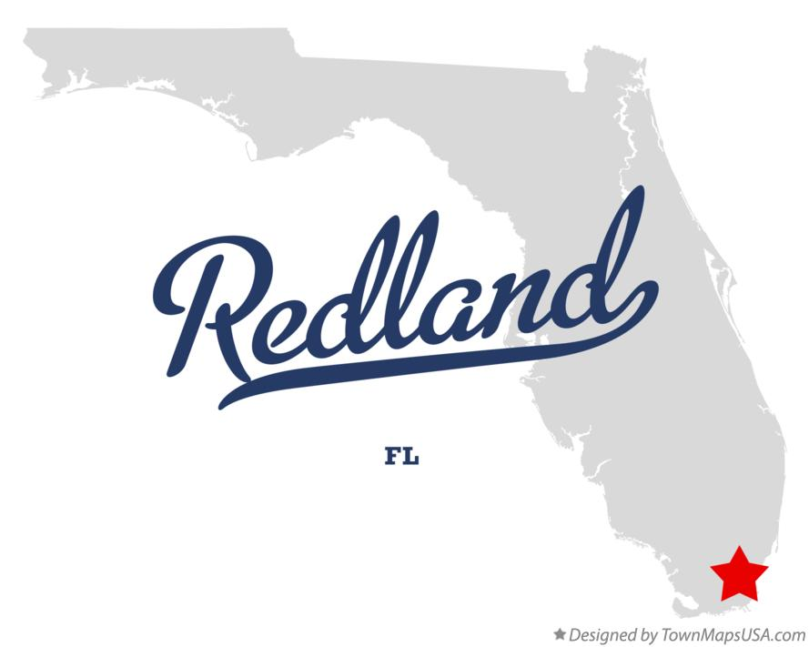 Map of Redland Florida FL