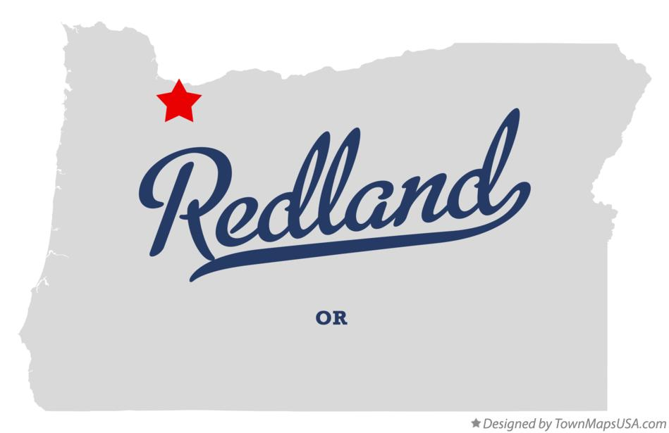 Map of Redland Oregon OR