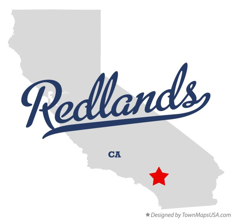 Map of Redlands California CA