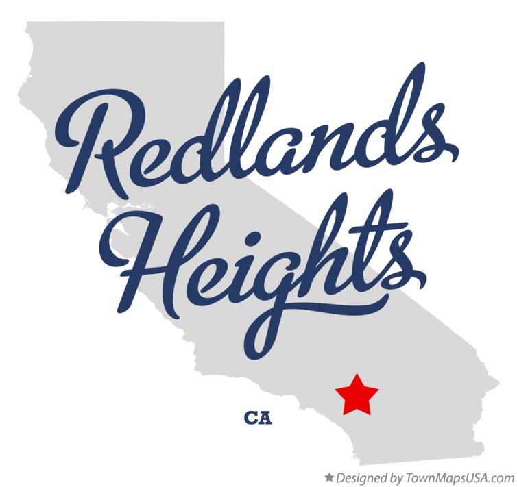 Map of Redlands Heights California CA