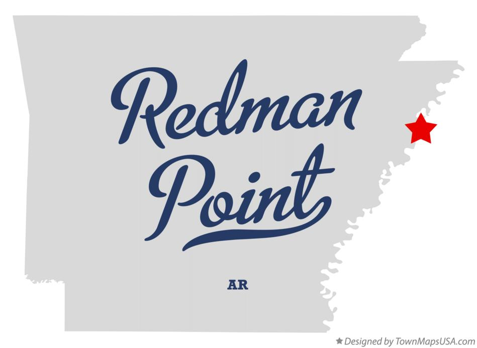 Map of Redman Point Arkansas AR