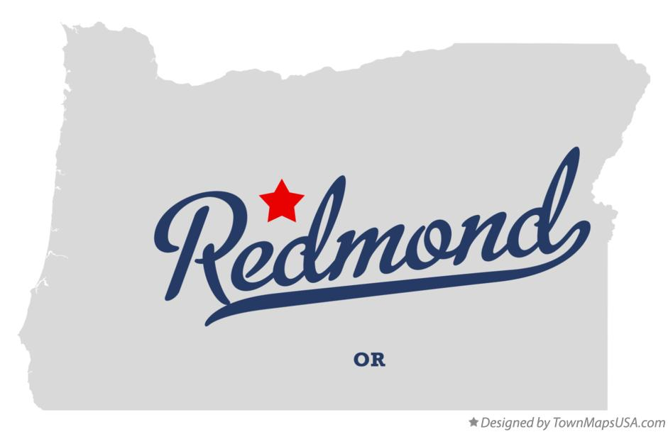 Map of Redmond Oregon OR