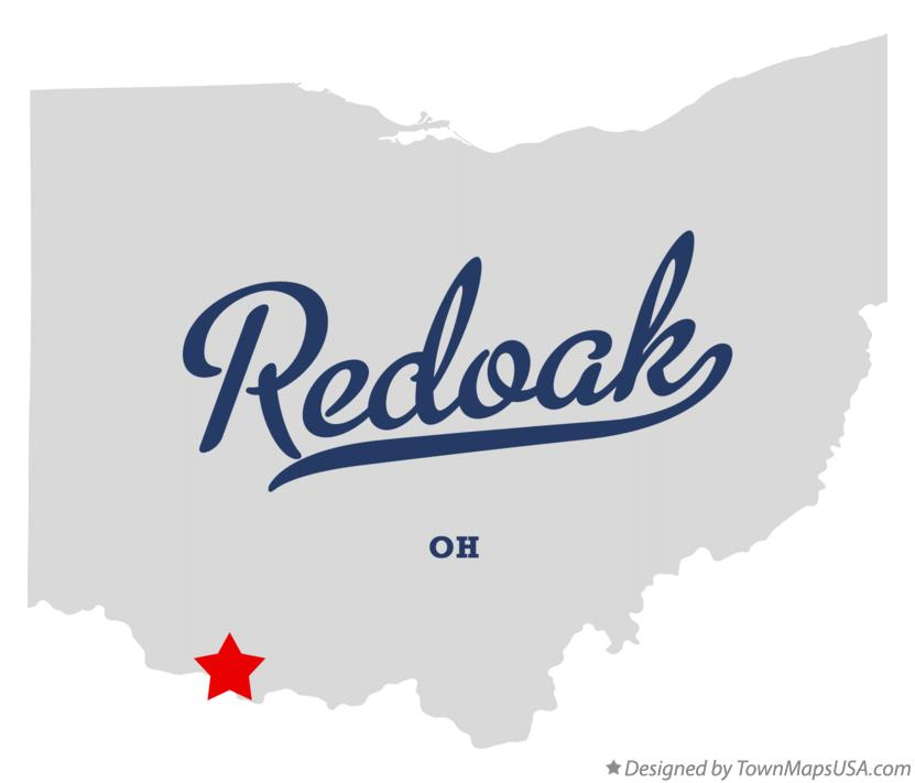 Map of Redoak Ohio OH