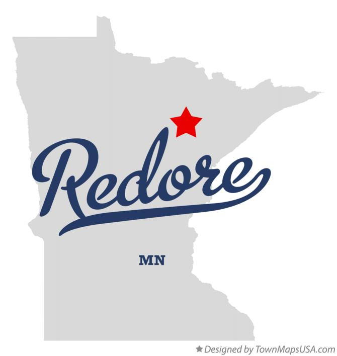 Map of Redore Minnesota MN