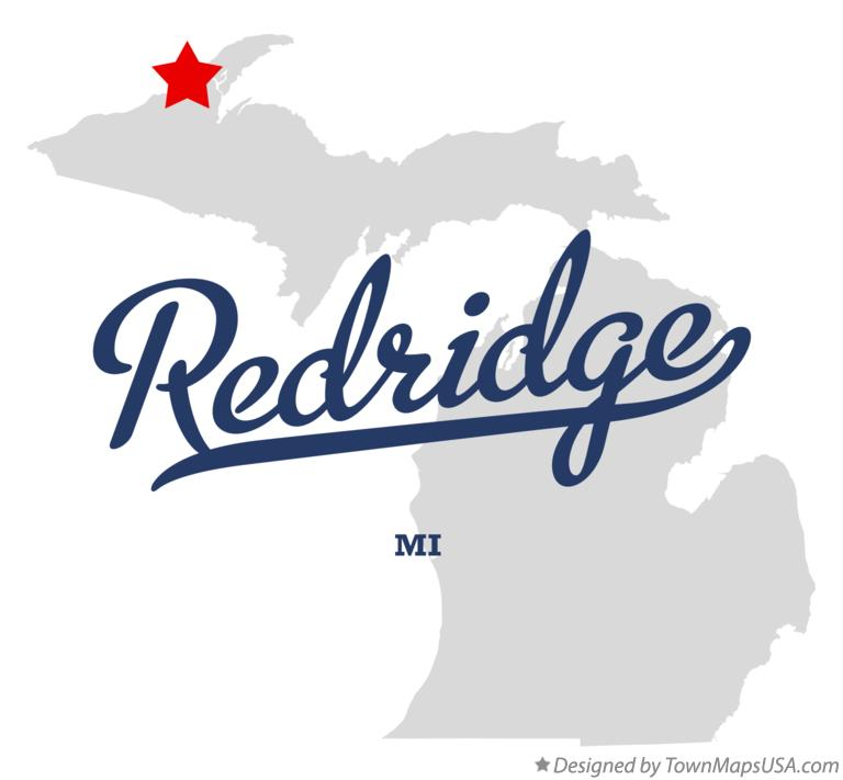 Map of Redridge Michigan MI