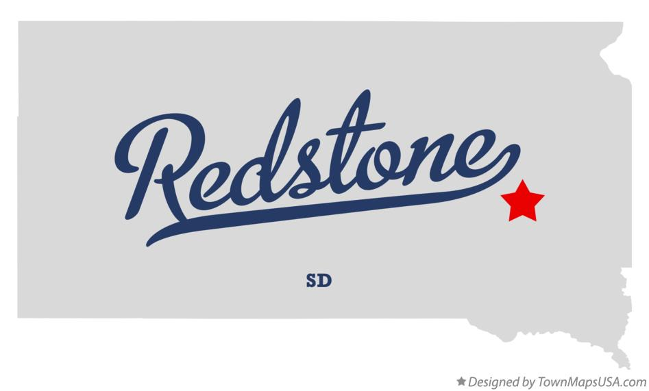 Map of Redstone South Dakota SD