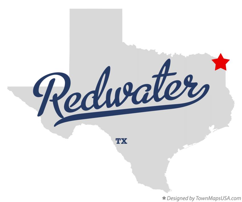 Map of Redwater Texas TX