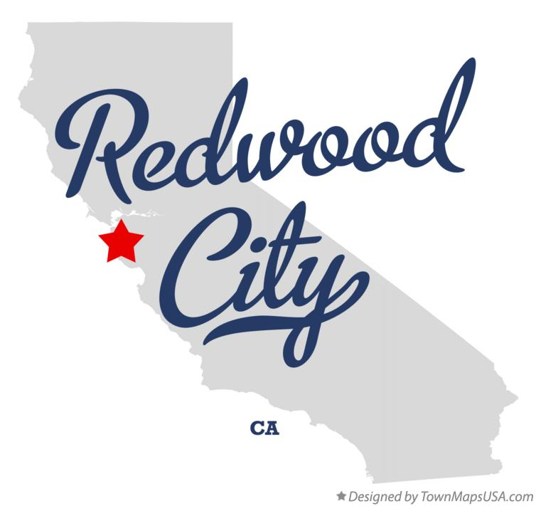 Map of Redwood City California CA