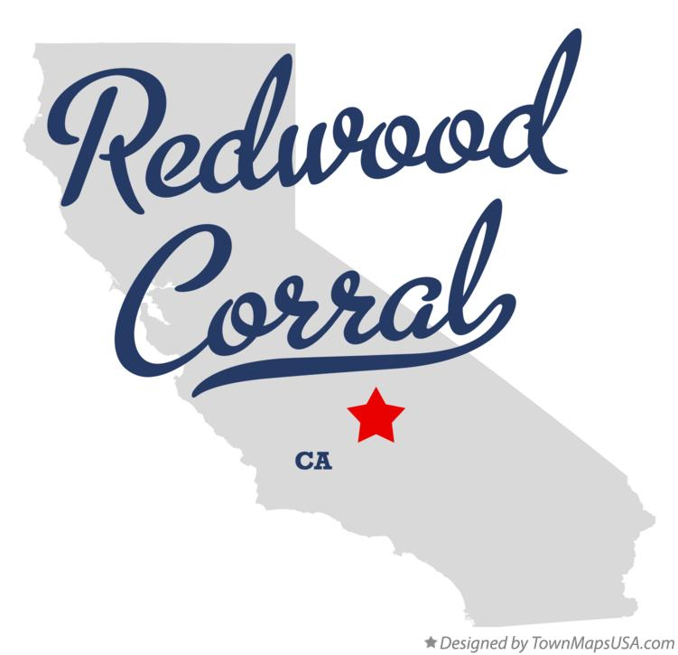 Map of Redwood Corral California CA