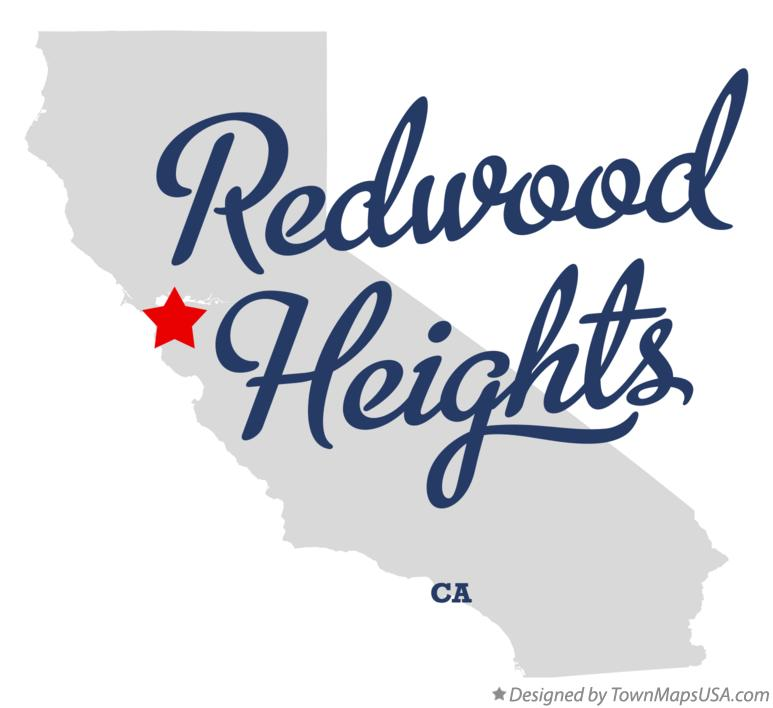 Map of Redwood Heights California CA