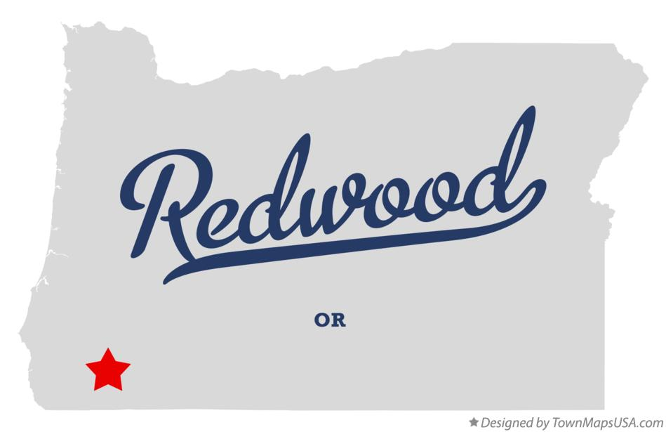 Map of Redwood Oregon OR