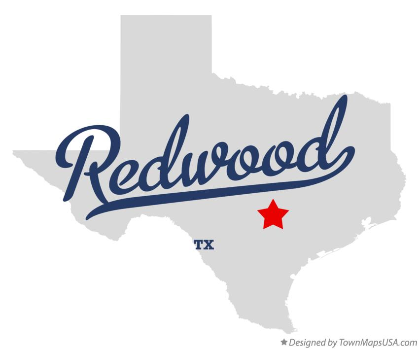 Map of Redwood Texas TX