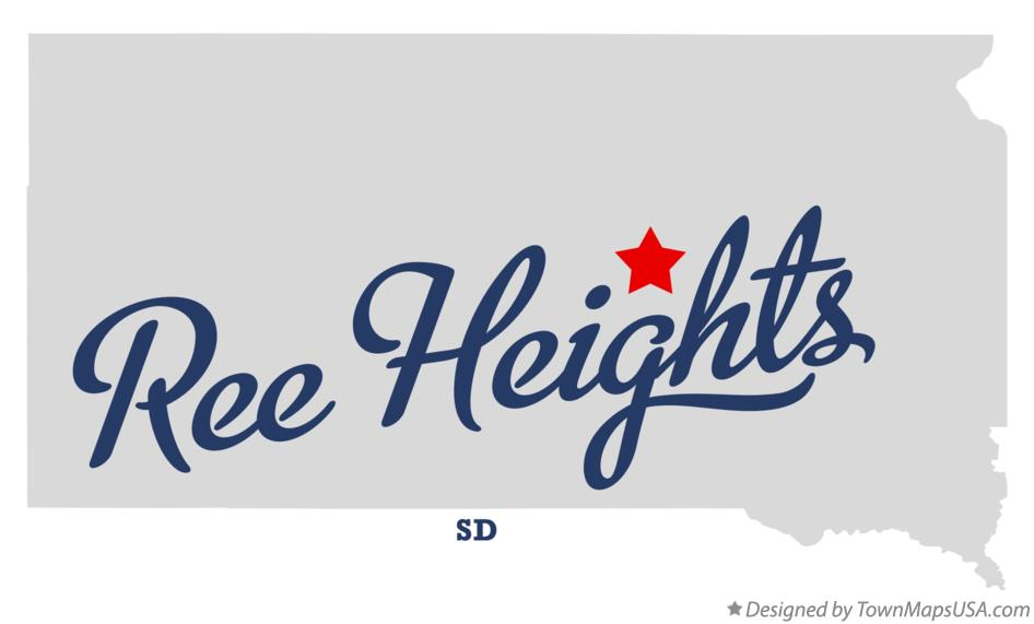 Map of Ree Heights South Dakota SD