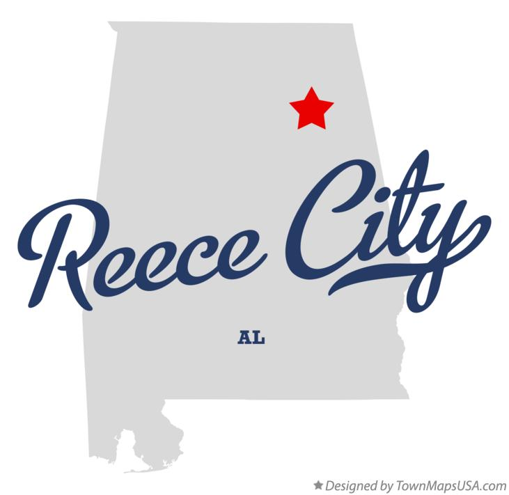 Map of Reece City Alabama AL