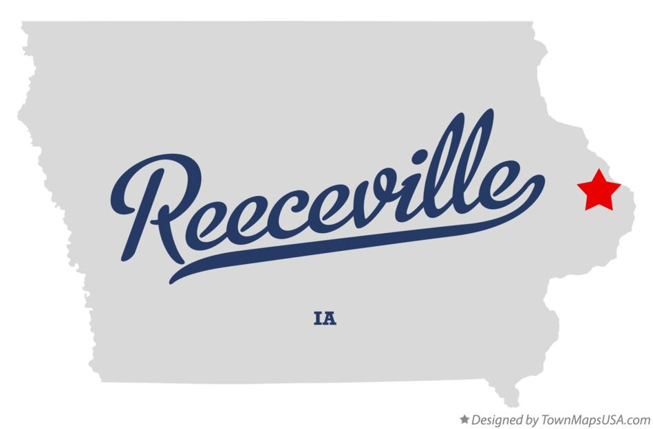 Map of Reeceville Iowa IA