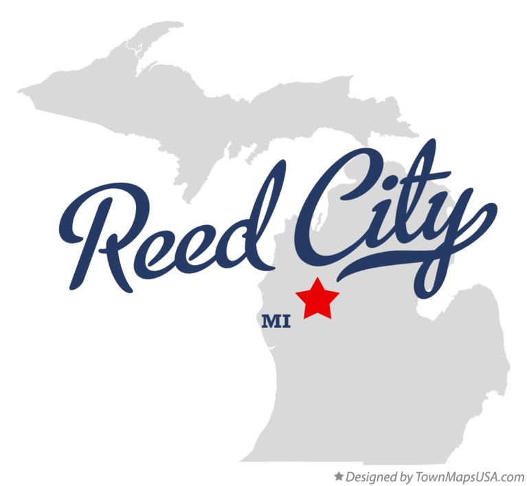 Map of Reed City Michigan MI