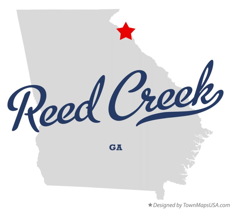 Map of Reed Creek Georgia GA