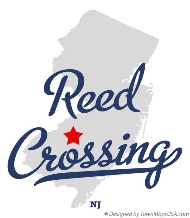 Map of Reed Crossing New Jersey NJ