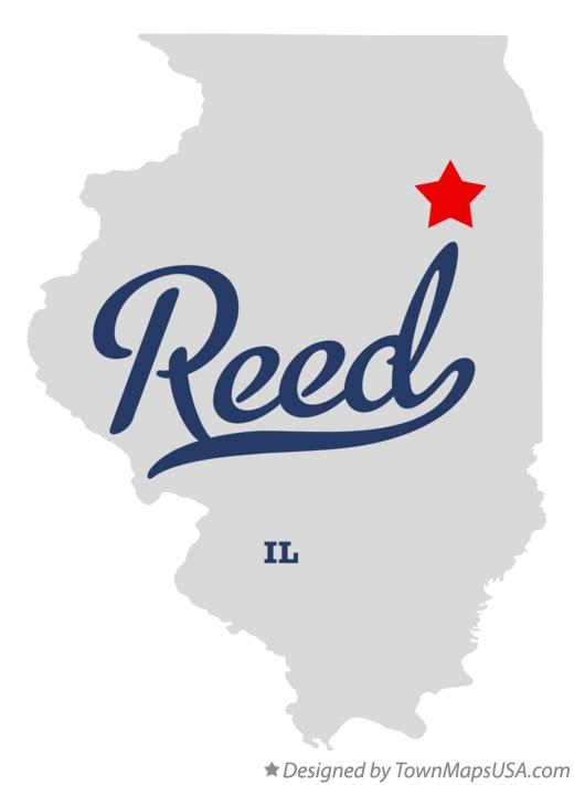 Map of Reed Illinois IL