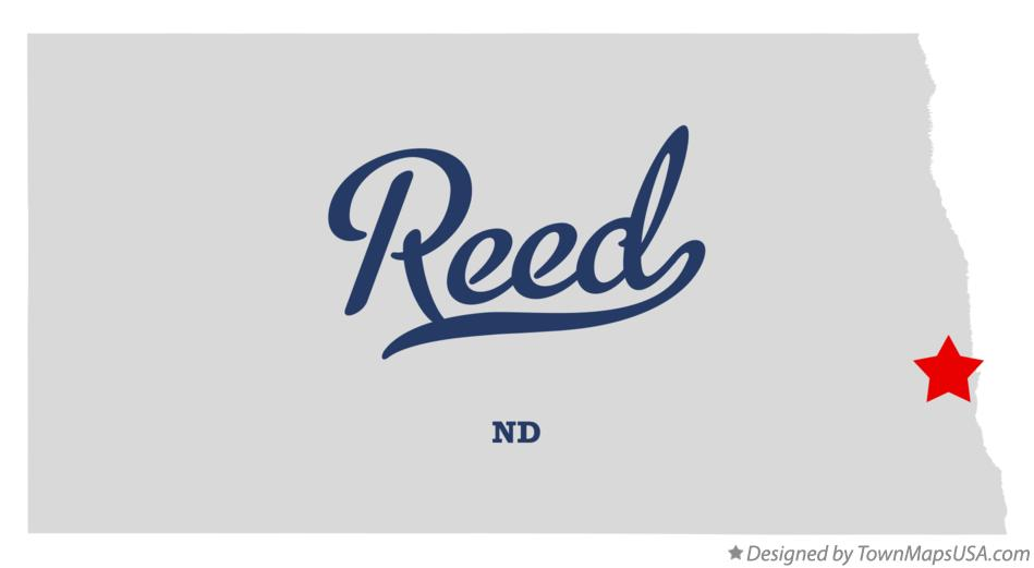 Map of Reed North Dakota ND
