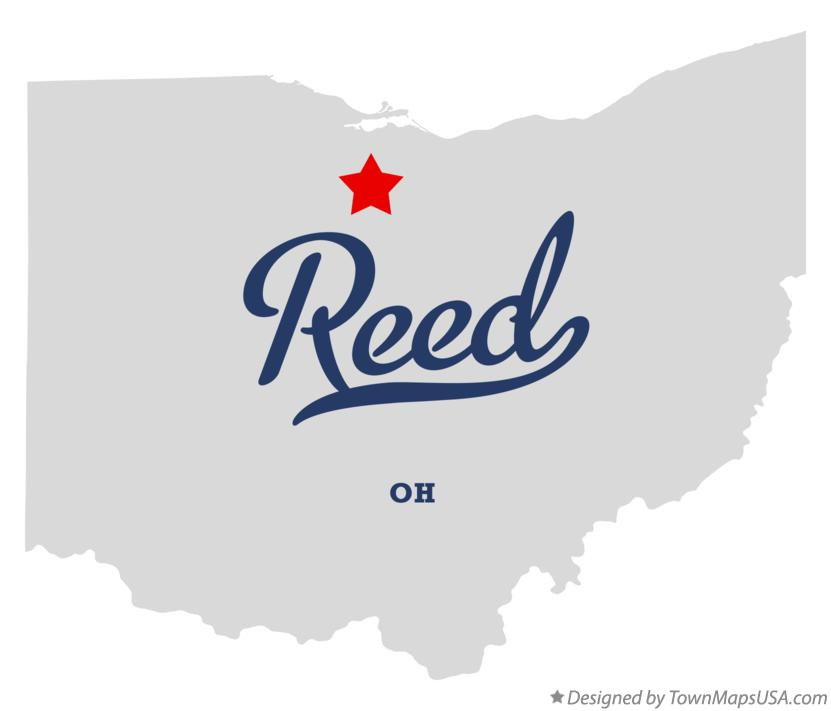Map of Reed Ohio OH