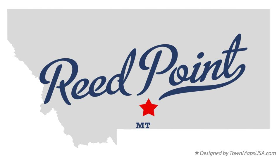 Map of Reed Point Montana MT