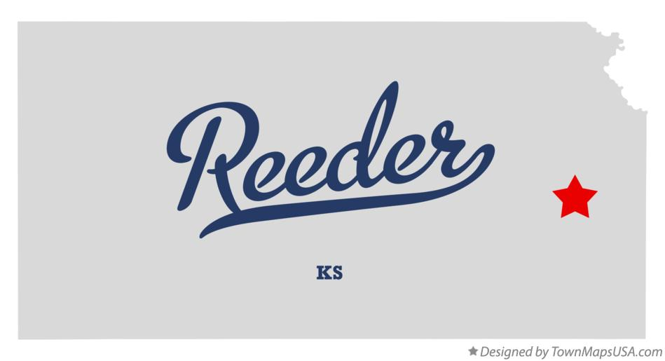 Map of Reeder Kansas KS