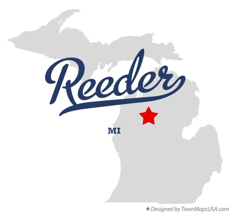 Map of Reeder Michigan MI