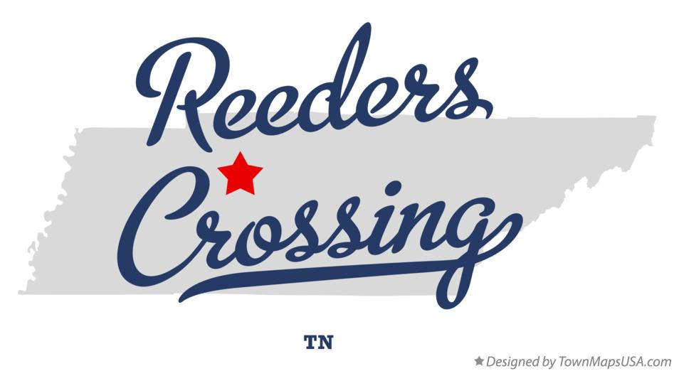 Map of Reeders Crossing Tennessee TN