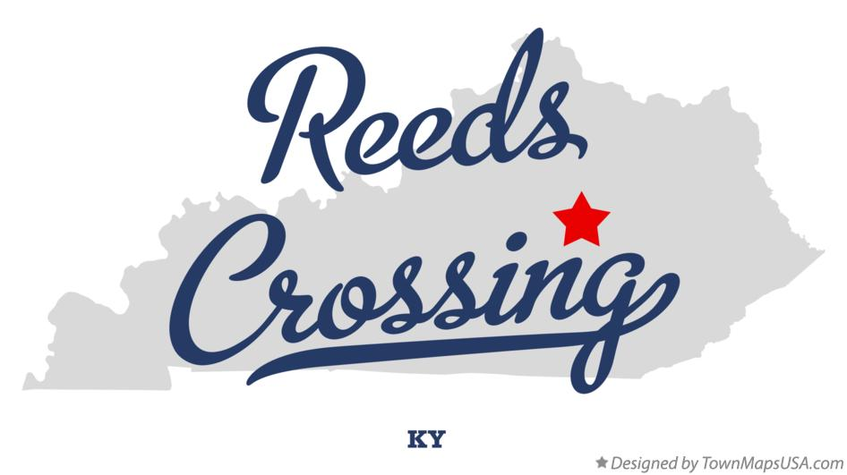 Map of Reeds Crossing Kentucky KY