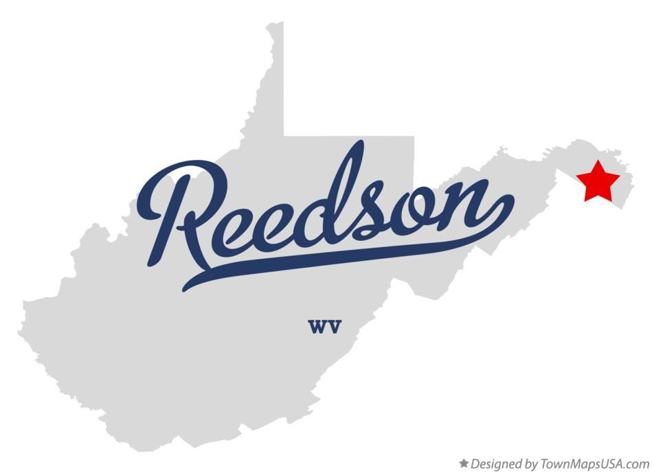 Map of Reedson West Virginia WV