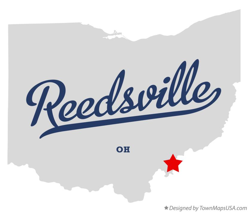 Map of Reedsville Ohio OH