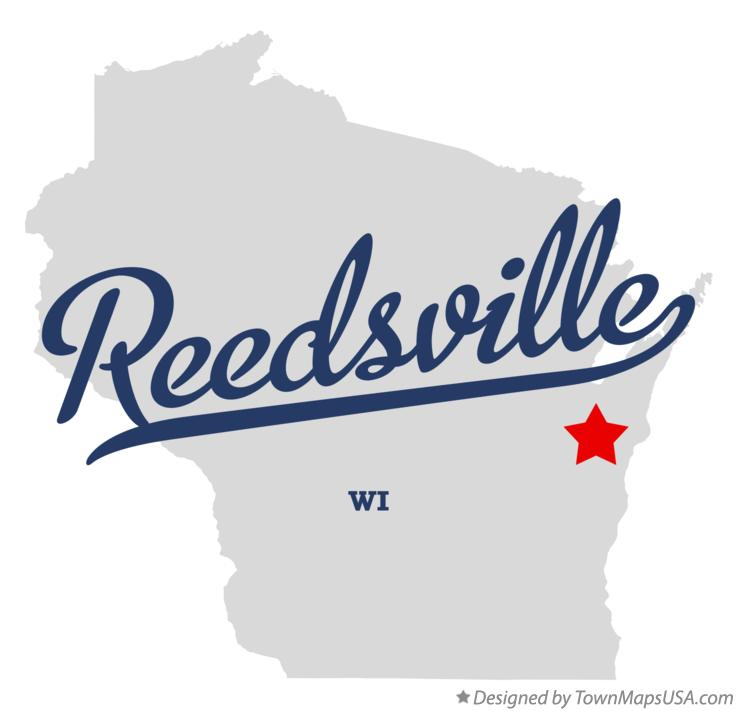 Map of Reedsville Wisconsin WI