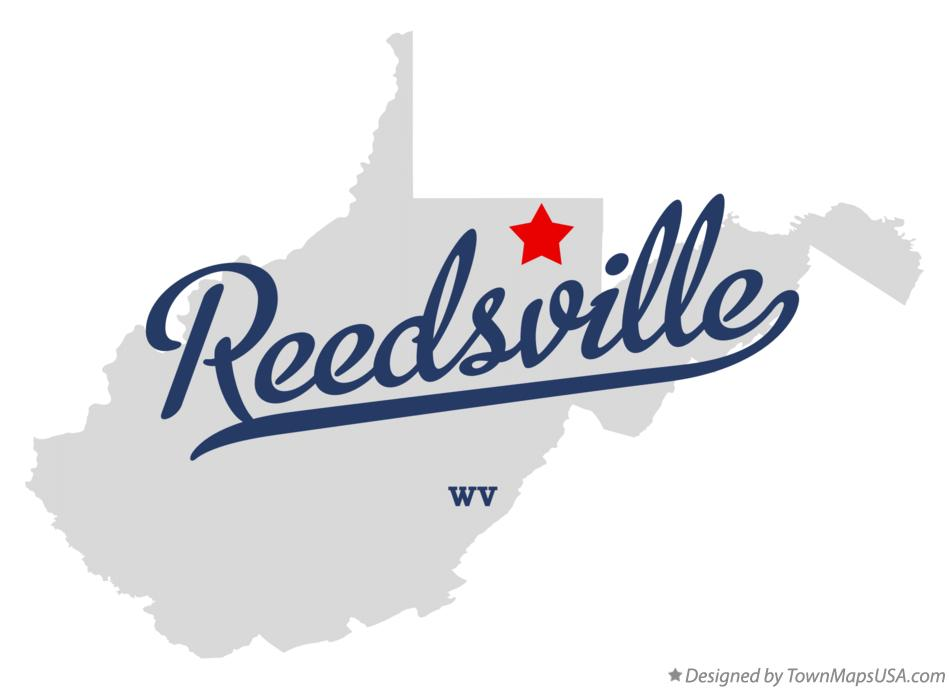 Map of Reedsville West Virginia WV
