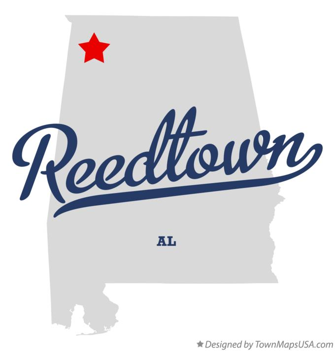 Map of Reedtown Alabama AL