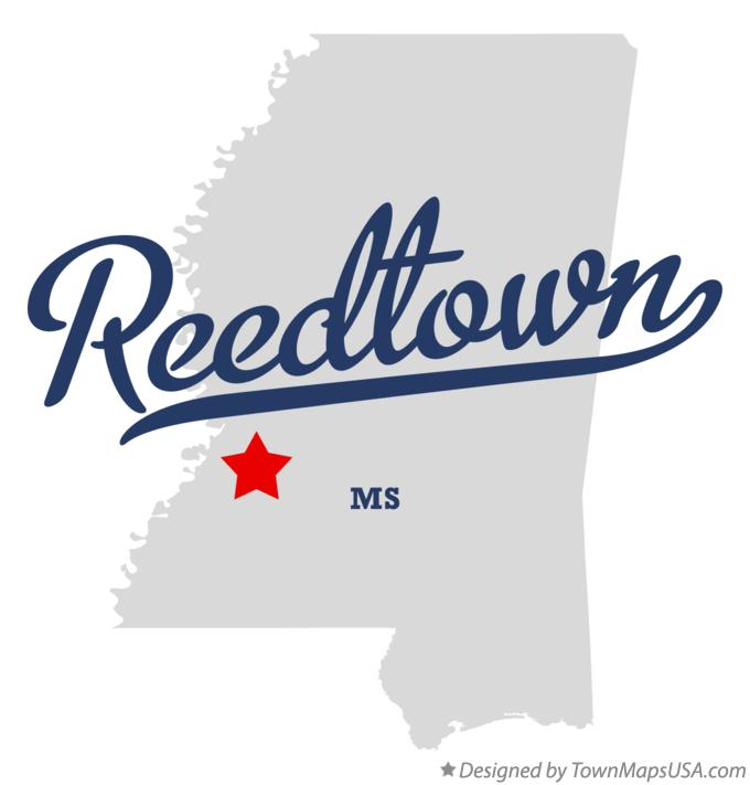 Map of Reedtown Mississippi MS