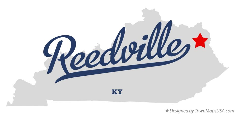 Map of Reedville Kentucky KY