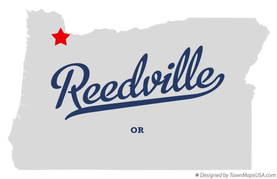 Map of Reedville Oregon OR