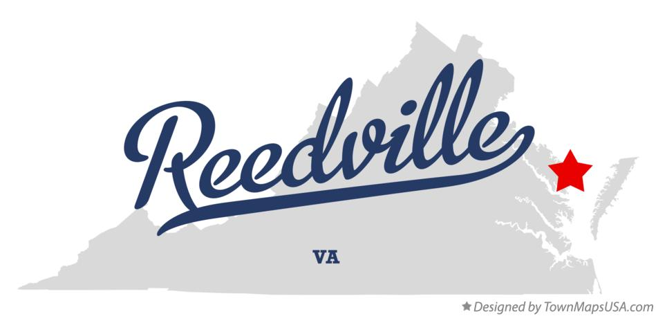 Map of Reedville Virginia VA