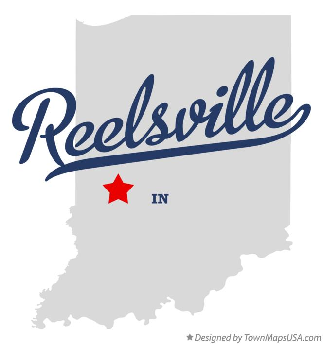 Map of Reelsville Indiana IN