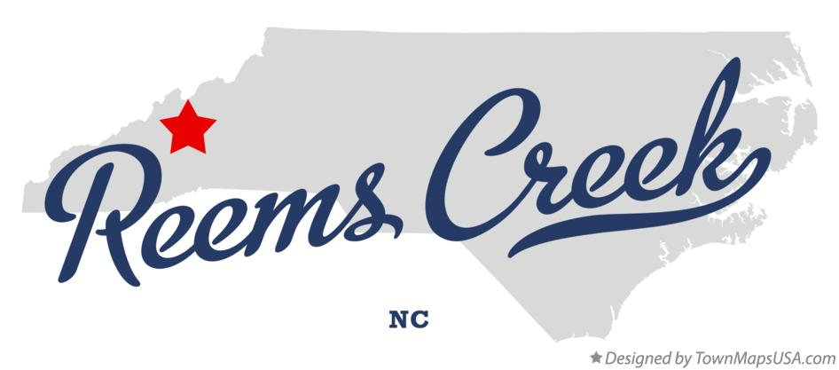 Map of Reems Creek North Carolina NC