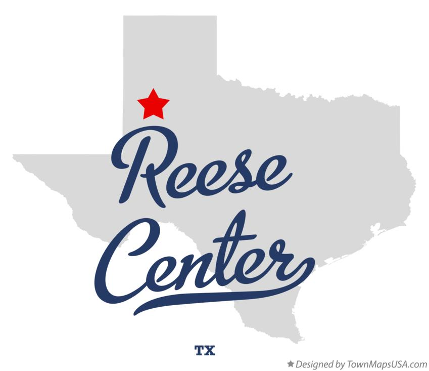 Map of Reese Center Texas TX