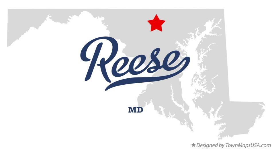 Map of Reese Maryland MD
