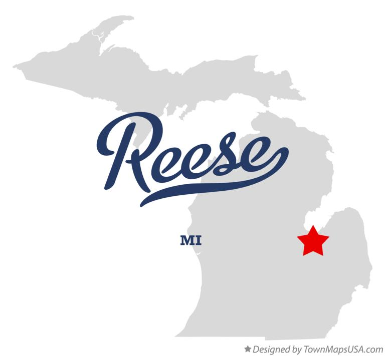 Map of Reese Michigan MI