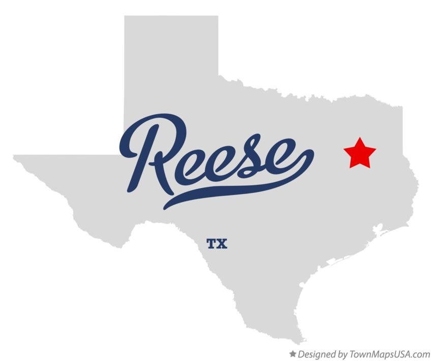 Map of Reese Texas TX