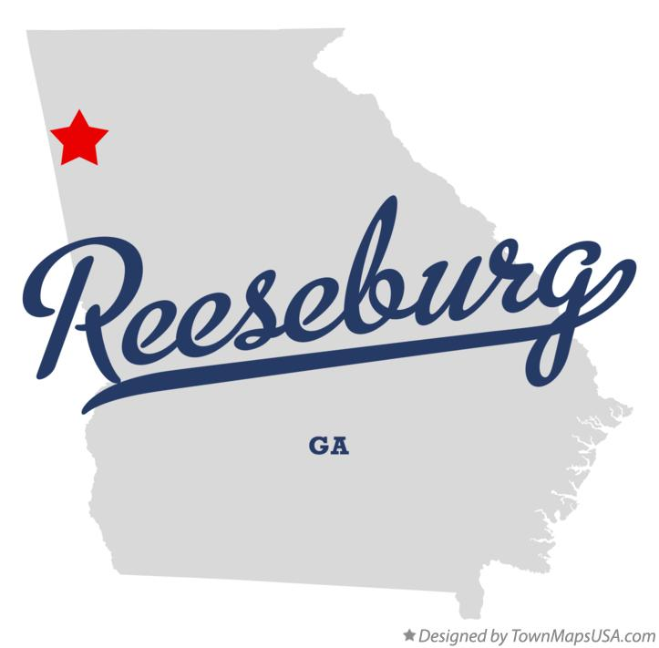Map of Reeseburg Georgia GA