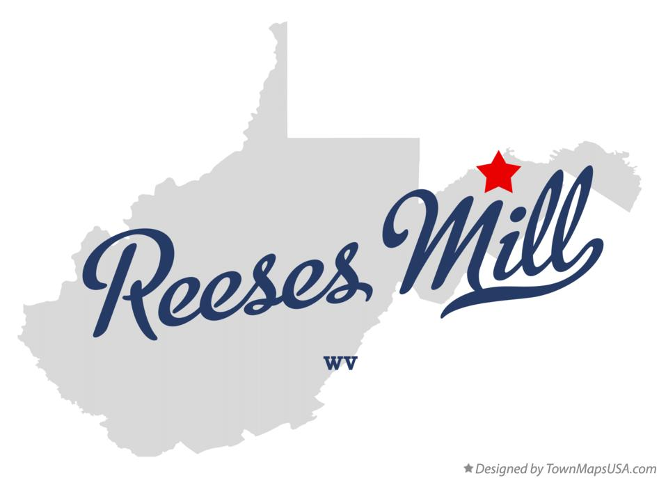 Map of Reeses Mill West Virginia WV
