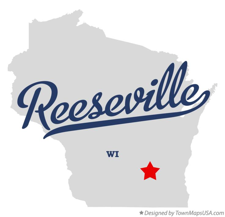 Map of Reeseville Wisconsin WI