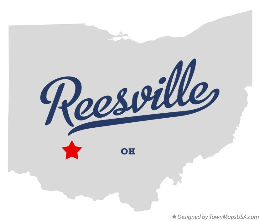 Map of Reesville Ohio OH