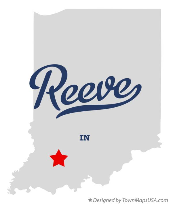 Map of Reeve Indiana IN